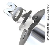 3d metal number 2013 | Shutterstock . vector #111043790