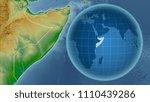 somalia. globe with the shape... | Shutterstock . vector #1110439286