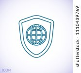 shield icon  stock vector... | Shutterstock .eps vector #1110439769
