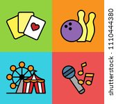 set of entertainment icons.... | Shutterstock .eps vector #1110444380
