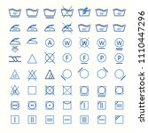 icon set of laundry symbols ... | Shutterstock .eps vector #1110447296