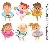 Happy Children Dressed In...