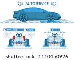car service. scanning.... | Shutterstock .eps vector #1110450926