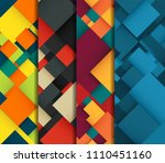 abstract background set with... | Shutterstock .eps vector #1110451160