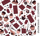 world chocolate day. july 11.... | Shutterstock .eps vector #1110455150