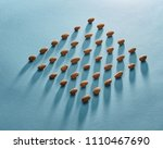 beautiful pattern of almonds on ... | Shutterstock . vector #1110467690