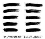 set of grunge black brush... | Shutterstock .eps vector #1110468083