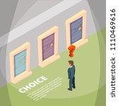 businessman standing front of... | Shutterstock .eps vector #1110469616
