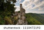lichtenstein castle view with... | Shutterstock . vector #1110472193