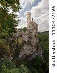 lichtenstein castle sitting on... | Shutterstock . vector #1110472196