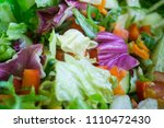 fresh mixed salad with... | Shutterstock . vector #1110472430