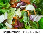 fresh mixed salad with... | Shutterstock . vector #1110472460