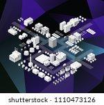 city isometric of urban... | Shutterstock .eps vector #1110473126