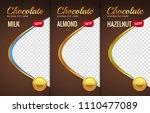 chocolate bar packaging... | Shutterstock .eps vector #1110477089