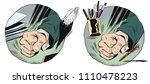 stock illustration. fist on...   Shutterstock .eps vector #1110478223