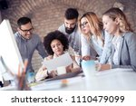 group of young business people... | Shutterstock . vector #1110479099