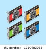 video card set of mining... | Shutterstock .eps vector #1110483083
