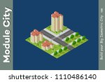 city isometric of urban... | Shutterstock .eps vector #1110486140