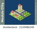 city isometric of urban... | Shutterstock .eps vector #1110486140