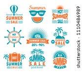 summer sale labels. design...   Shutterstock .eps vector #1110486989