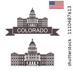 state of colorado. colorado... | Shutterstock .eps vector #1110487613