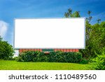 horizontal shot of a blank...   Shutterstock . vector #1110489560