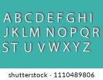 3d letters of the alphabet... | Shutterstock . vector #1110489806