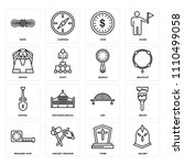 set of 16 icons such as helmet  ...