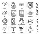 set of 16 icons such as ghost ...