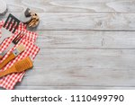 background with bbq cooking... | Shutterstock . vector #1110499790