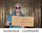 a happy middle aged man in a...   Shutterstock . vector #1110502640