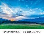 horizontal shot of dawn...   Shutterstock . vector #1110502790