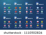 football tournament teams and... | Shutterstock .eps vector #1110502826