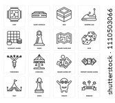set of 16 icons such as ribbons ...