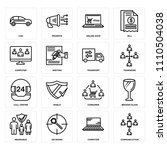 set of 16 icons such as... | Shutterstock .eps vector #1110504038