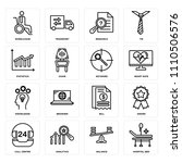 set of 16 icons such as... | Shutterstock .eps vector #1110506576