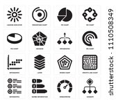 set of 16 icons such as diagram ...