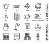 set of 16 icons such as tribune ...