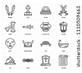 set of 16 icons such as papyrus ...
