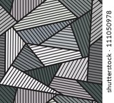 abstract grey seamless pattern. | Shutterstock .eps vector #111050978