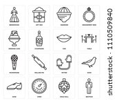 set of 16 icons such as bestman ...