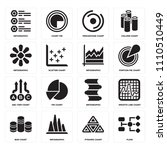 set of 16 icons such as flow ...