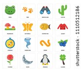 set of 16 icons such as clover  ... | Shutterstock .eps vector #1110512186