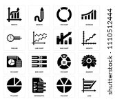 set of 16 icons such as loss ...