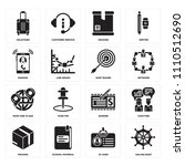 set of 16 icons such as sailing ...