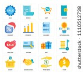 set of 16 icons such as flame ...