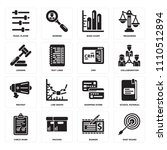 set of 16 icons such as dart...