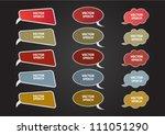 speech bubbles set | Shutterstock .eps vector #111051290