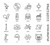 set of 16 icons such as panda...