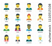 set of 16 icons such as chef ... | Shutterstock .eps vector #1110515108